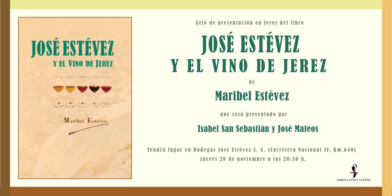"""Maribel Estévez presenta su libro: """"José Estévez y El Vino de Jerez""""(Spanish)"""