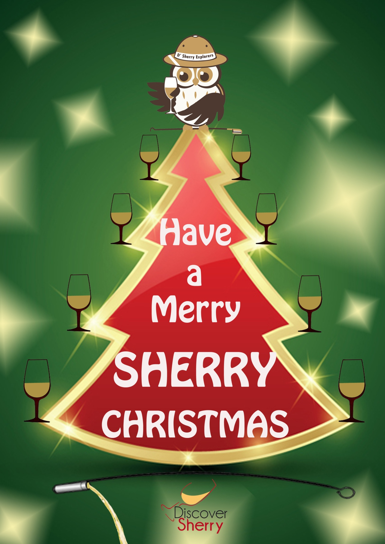 Discover Sherry and Edu wish you a Merry Sherry Christmas.  Discover Sherry y Edu os deseamos Feliz Navidad.