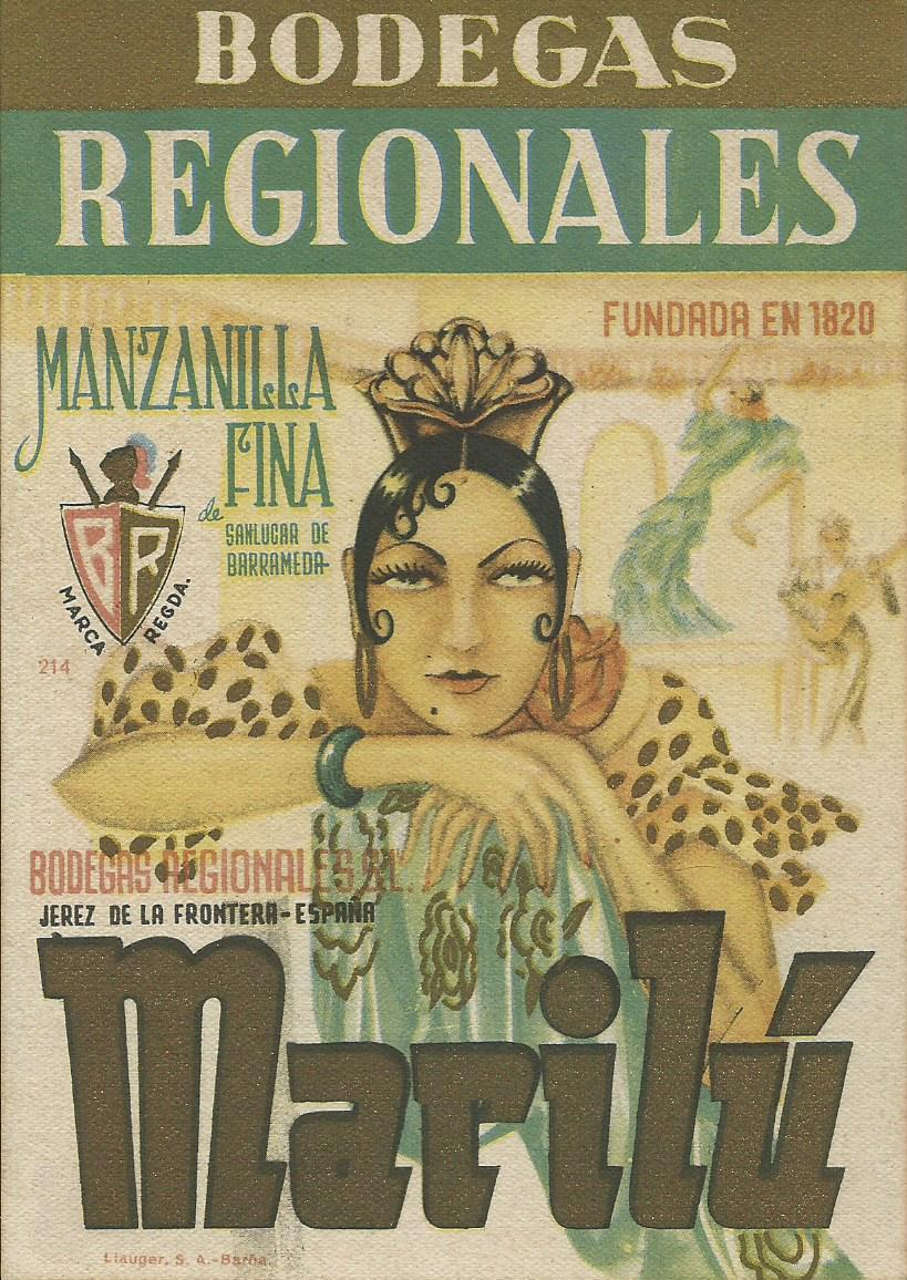 Etiqueta / Label: Bodegas Regionales, ManzanillaMarilú