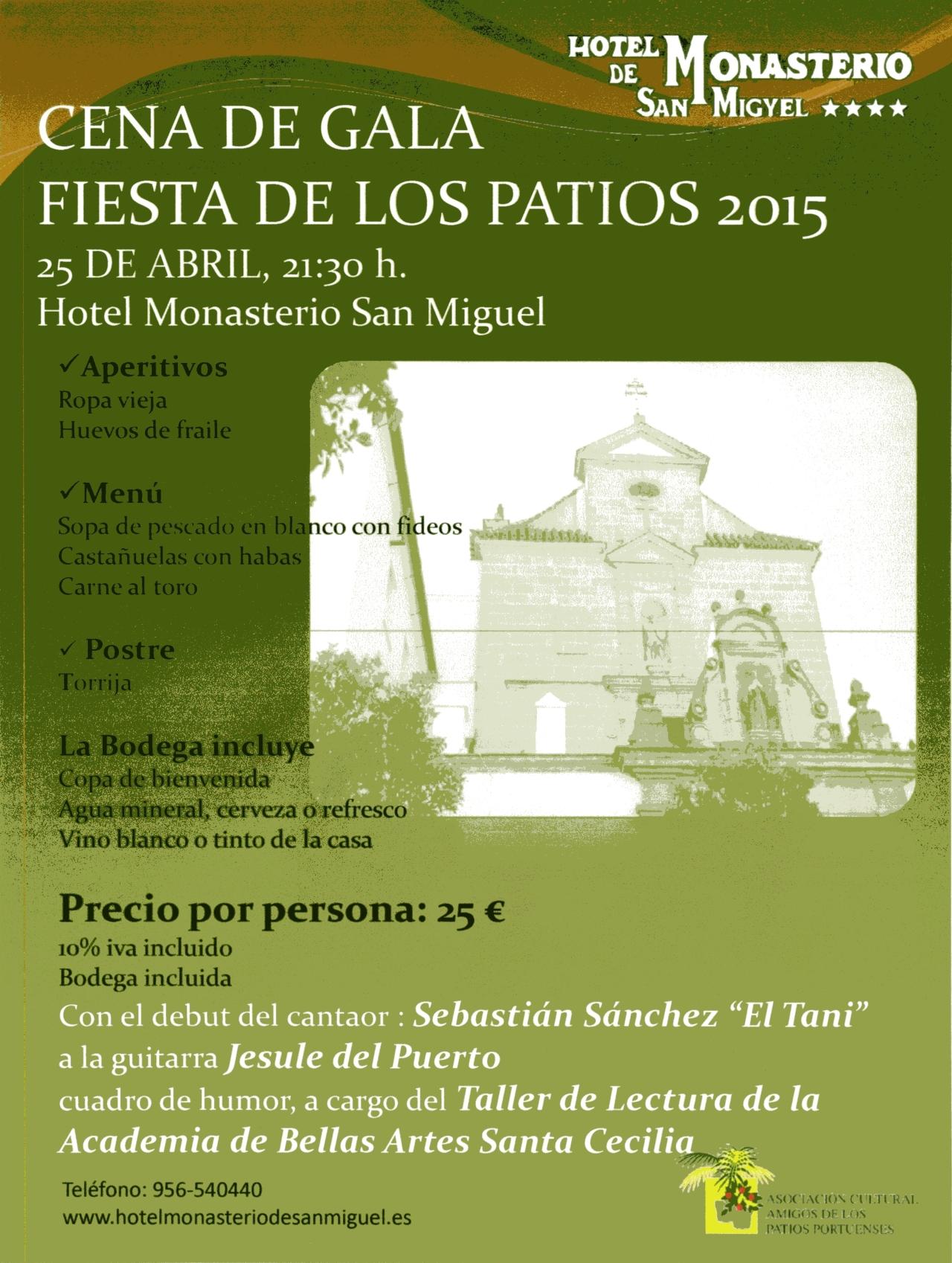 Cena de gala Fiesta de LosPatios