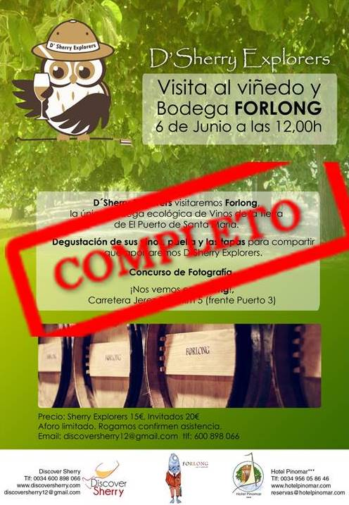 COMPLETA la visita a FORLONG. Visit to Forlong is sold out.