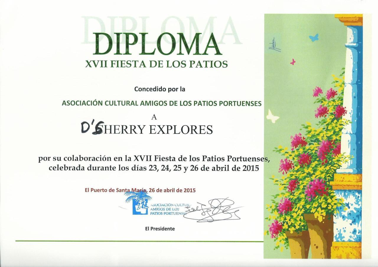 Entrega de los premios de la Fiesta de los Patios /Presentation of the Fiesta de los Patiosawards