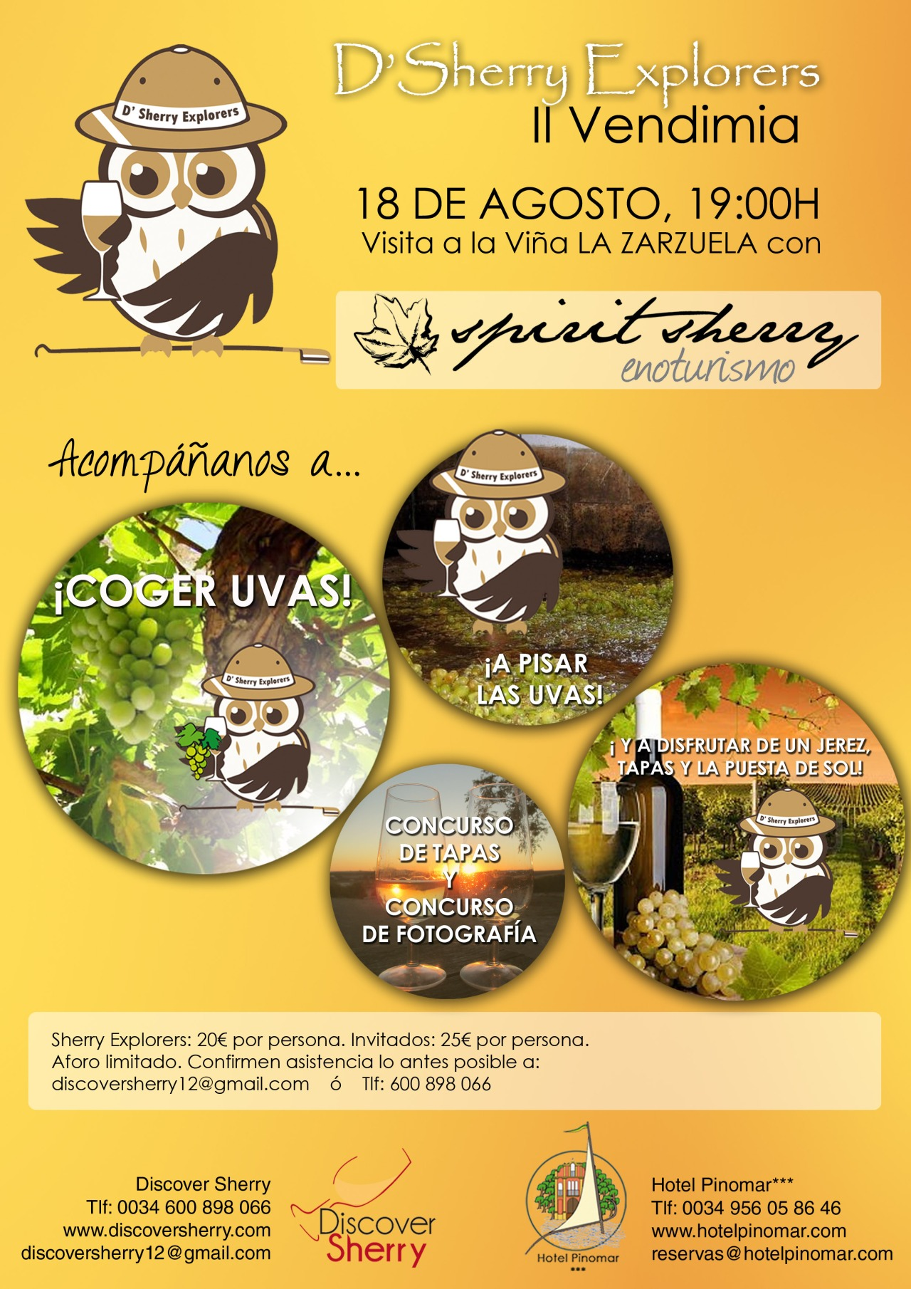¡¡D´Sherry Explorers a vendimiar!! D´Sherry Explorers to the harvest!!
