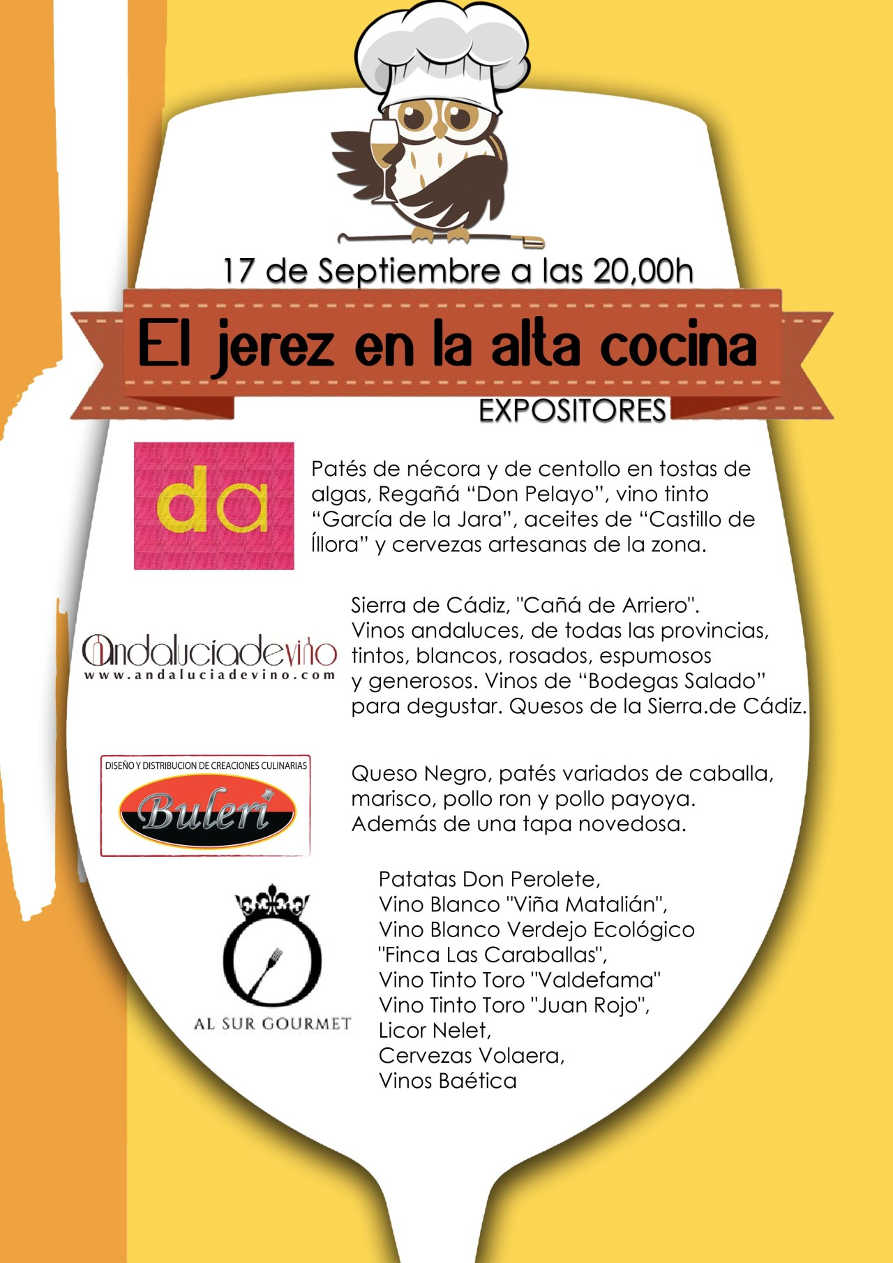 Invitados y sus productos gourmet Jueves, 17 de septiembre.  Guests and their gourmet products next Thursday, September 17th.