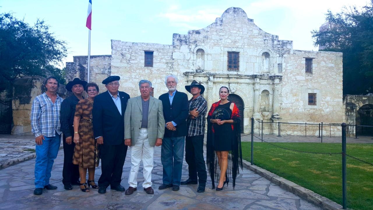 delegación de Texas, España y Méxicos
