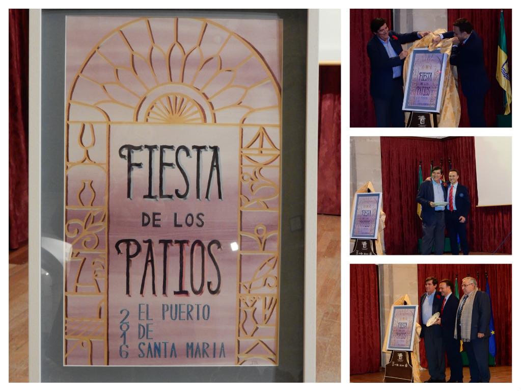 Presentación cartel Fiesta de los Patios.  Fiesta de los Patios PosterPresentation.