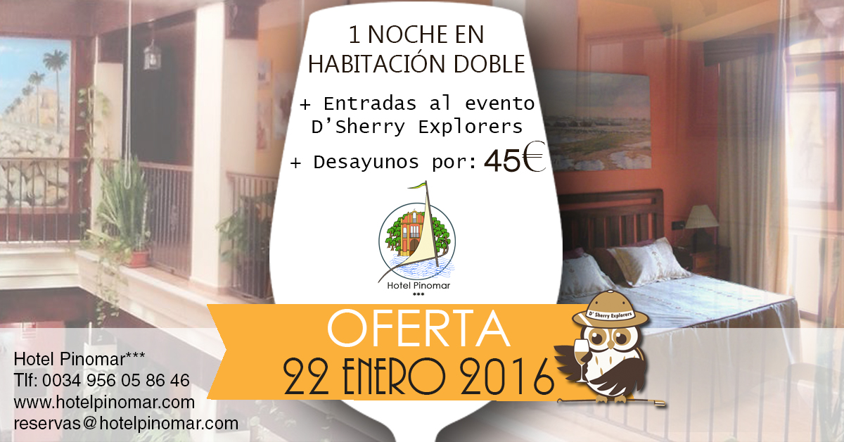 oferta alojamiento sherry enero 2016