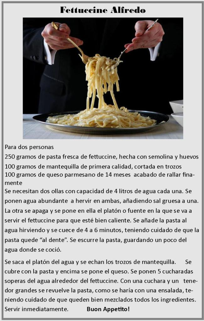 Receta Fettuccine Spanish