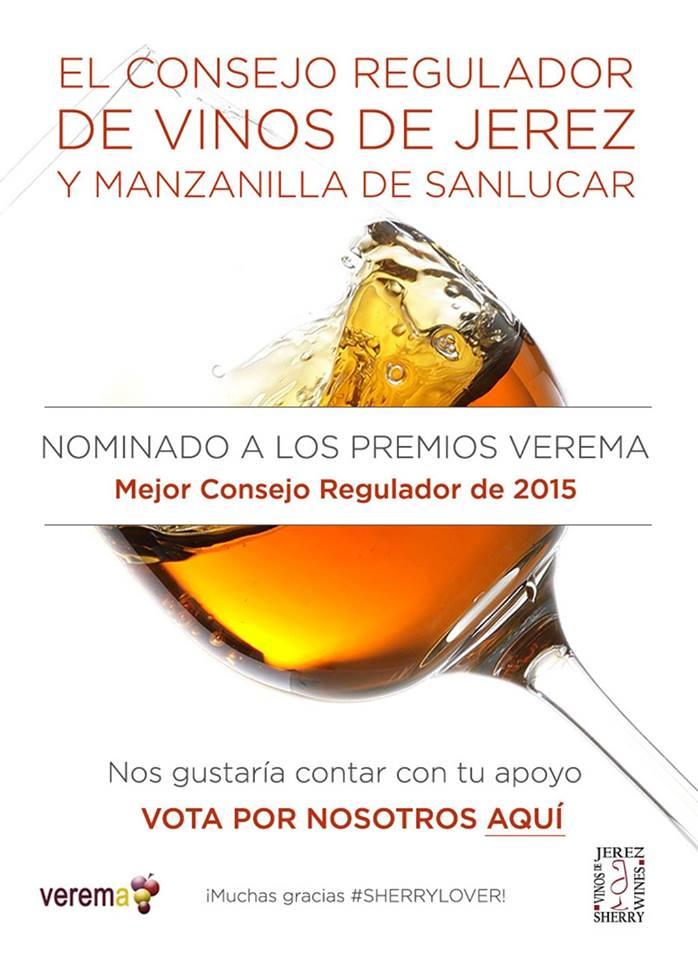 Vota por el Consejo Regulador de Vinos de Jerez y Manzanilla de Sanlúcar en los premios Verema.  Vote for our Sherry Wines and Manzanilla de Sanlúcar Regulatory Council at the Veremacompetition.