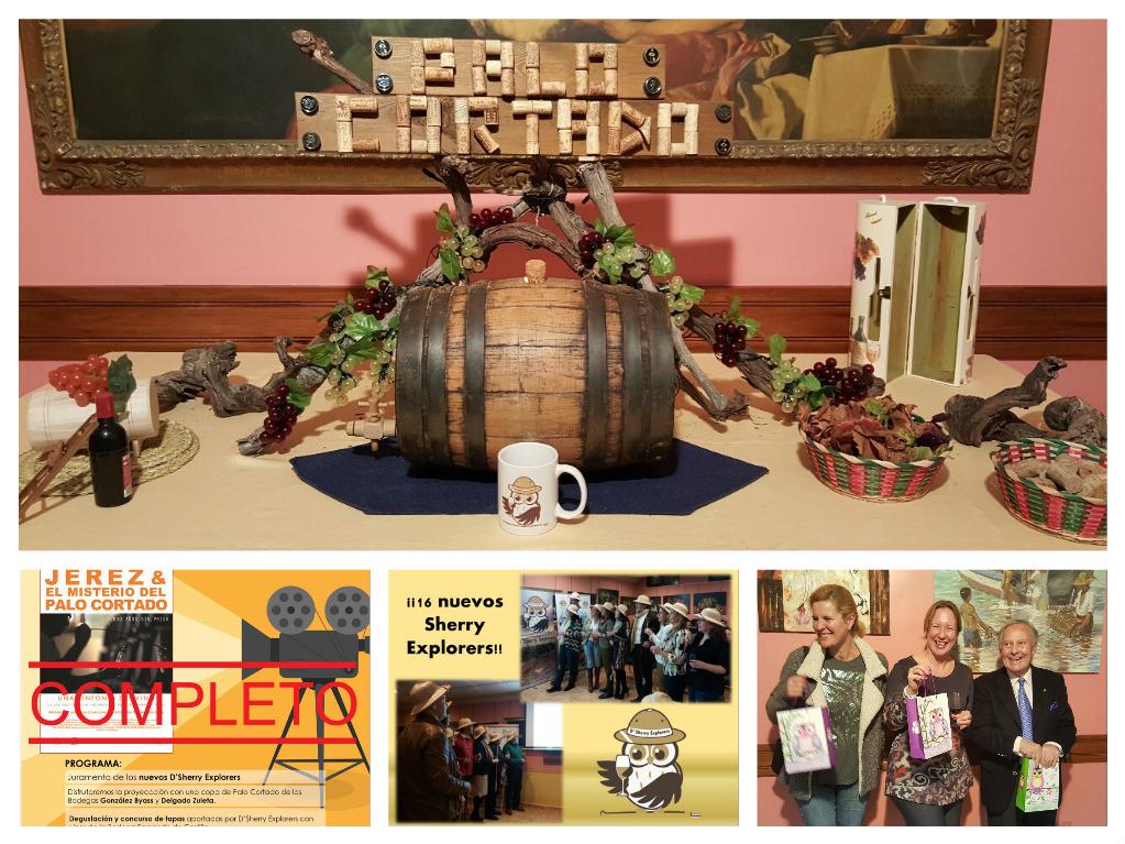 Clase magistral sobre el vino de jerez en la 1ª reunión del año de D´Sherry Explorers. Sherry MasterClass
