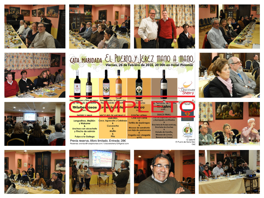 Estupenda cata de Discover Sherry: Jerez y El Puerto mano a mano.  Great Discover Sherry tasting: Jerez and El Puerto Hand inHand.