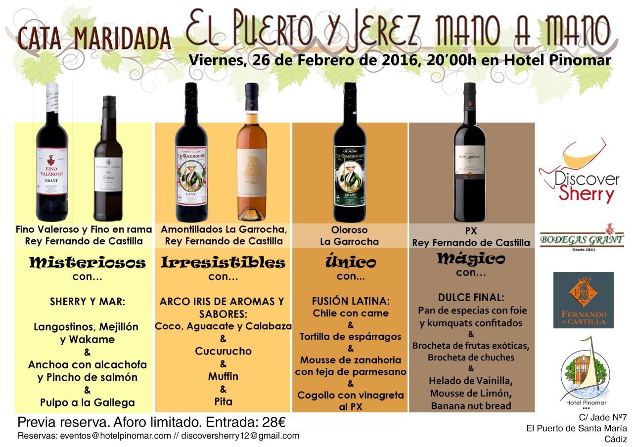 Cata Maridada: El Puerto y Jerez mano a mano. / Tasting and Pairing: El Puerto and Jerez Hand inHand