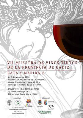 Discover Sherry recommends: VII Muestra de Vinos Tintos de Cádiz: March5-6