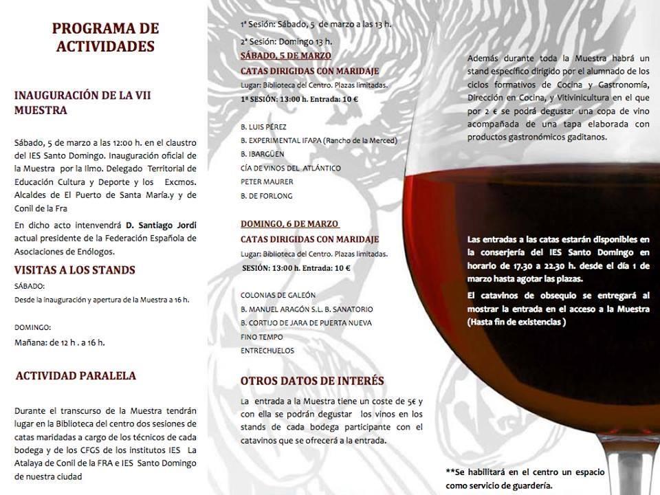 Programa Muestra vinos
