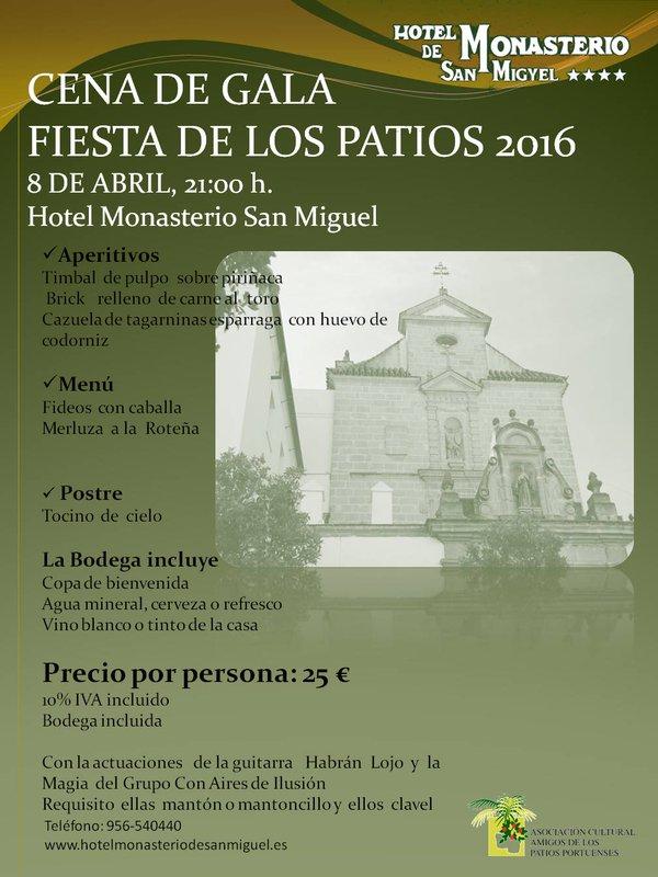 Discover Sherry recommends: Cena de Gala Fiesta de LosPatios
