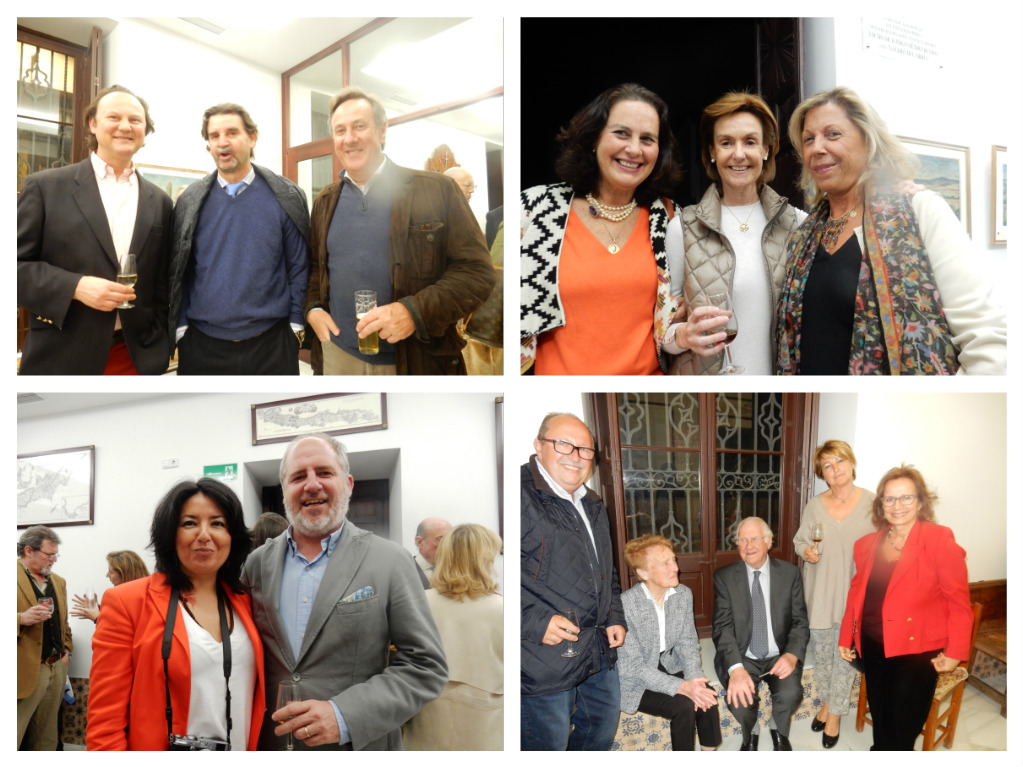 Inauguración en la Galería del Virrey en Jerez. / Opening day celebration at the Virrey Art Gallery in Jerez