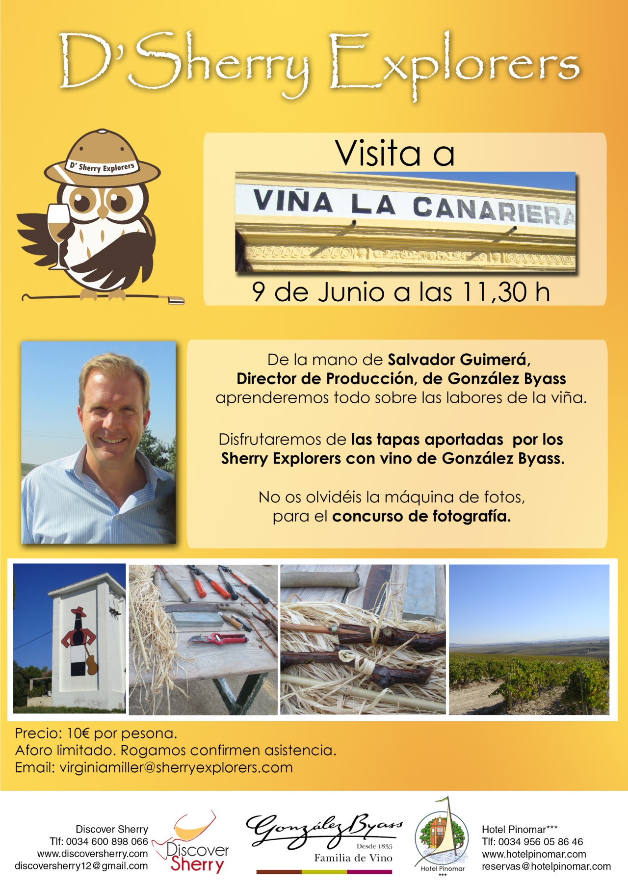 Próxima visita de los Sherry Explorers a La Viña La Canariera de GonzálezByass