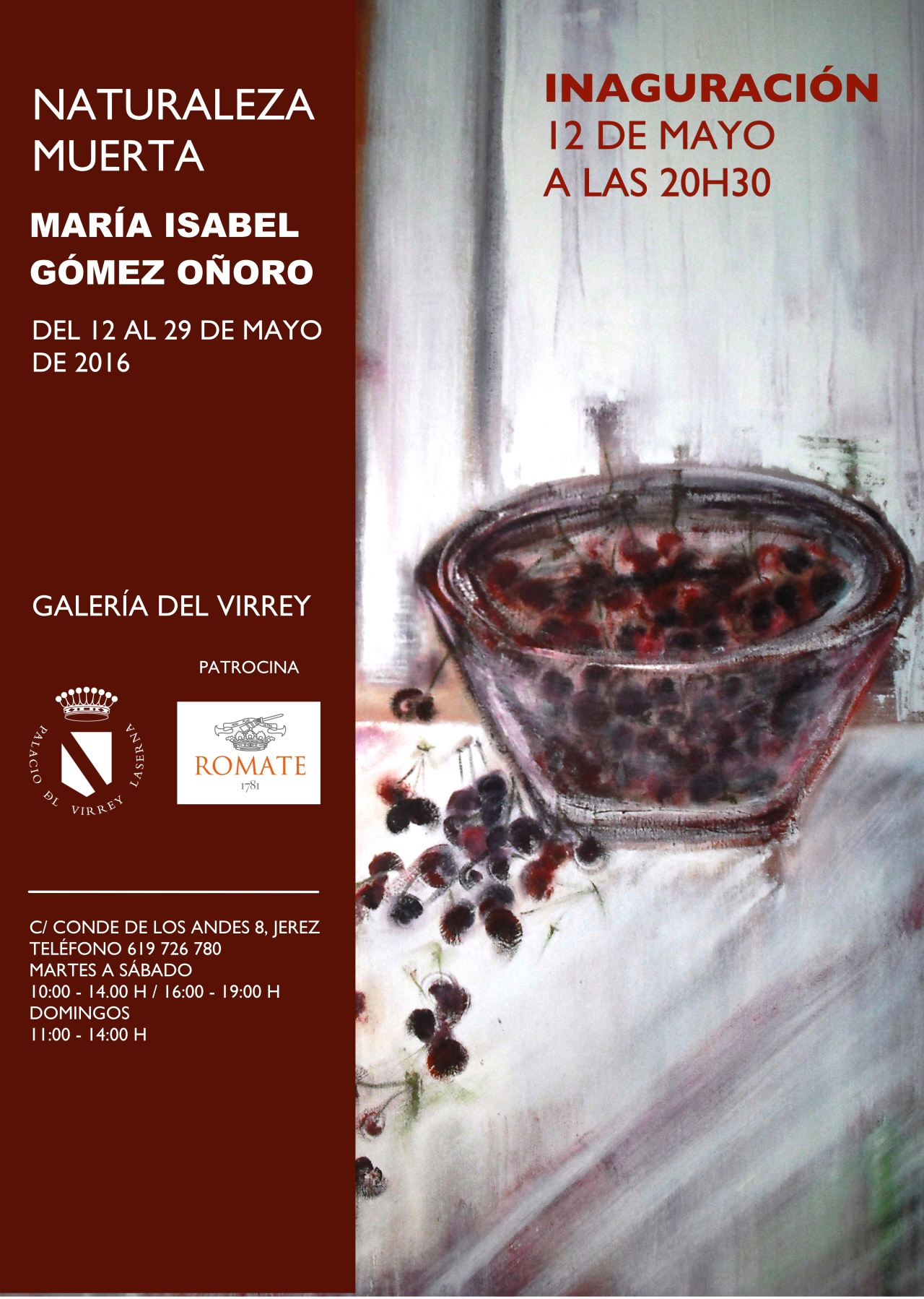 Discover Sherry recommends: Nueva exposición en la Galería del Virrey en Jerez. New exhibit at the Virrey Gallery in Jerez