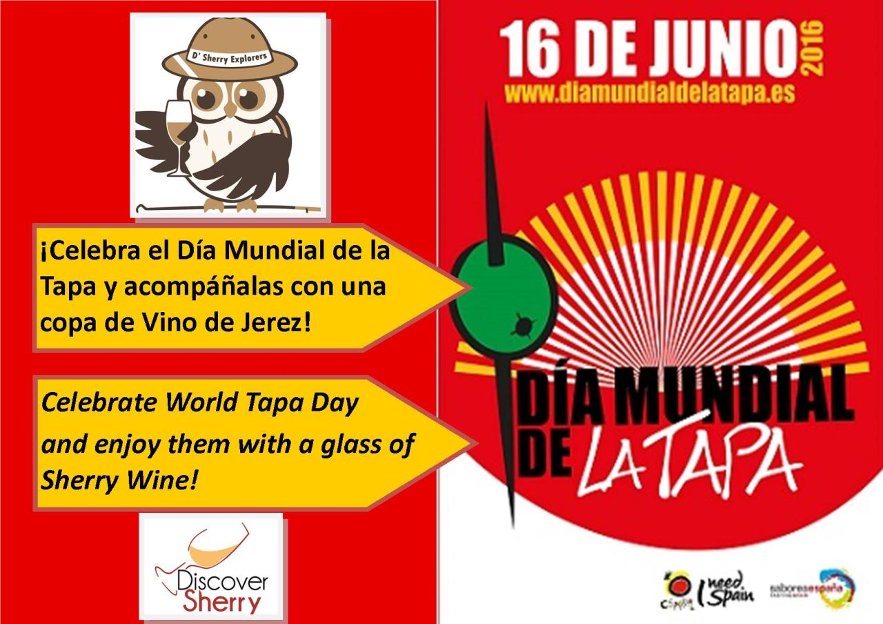 ¡Día Mundial de la Tapa, celébralo con jerez! /World Tapa Day, celebrate with Sherry Wine!