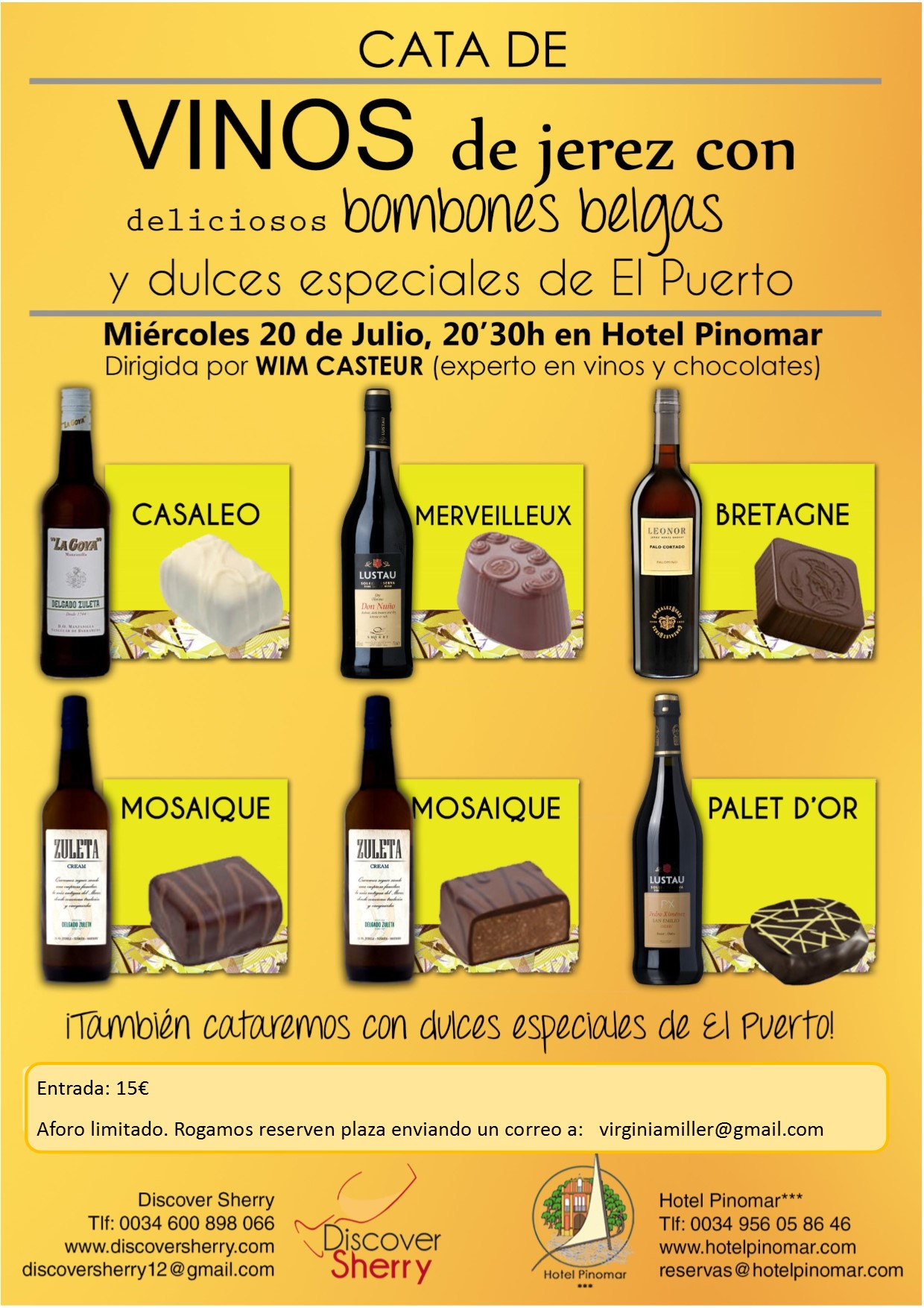 Discover Sherry presenta la II Cata de bombones y vinos del Marco de Jerez / Discover Sherry presents the 2nd Tasting and Pairing of Chocolates and Sherry Wines