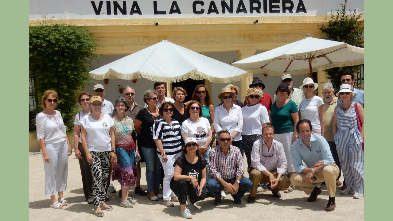 D´Sherry Explorers: Clase magistral sobre la viña en La Canariera/ Master Class regarding vineyards at La Canariera Vineyard