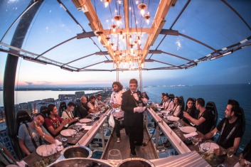 dinner in the sky by the sea