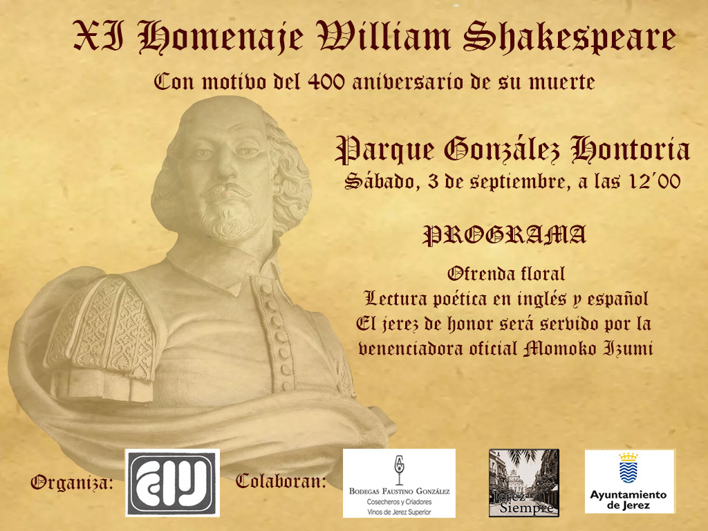 Discover Sherry recommends: Homenaje a William Shakespeare en Jerez /  Jerez pays Homage to William Shakespeare