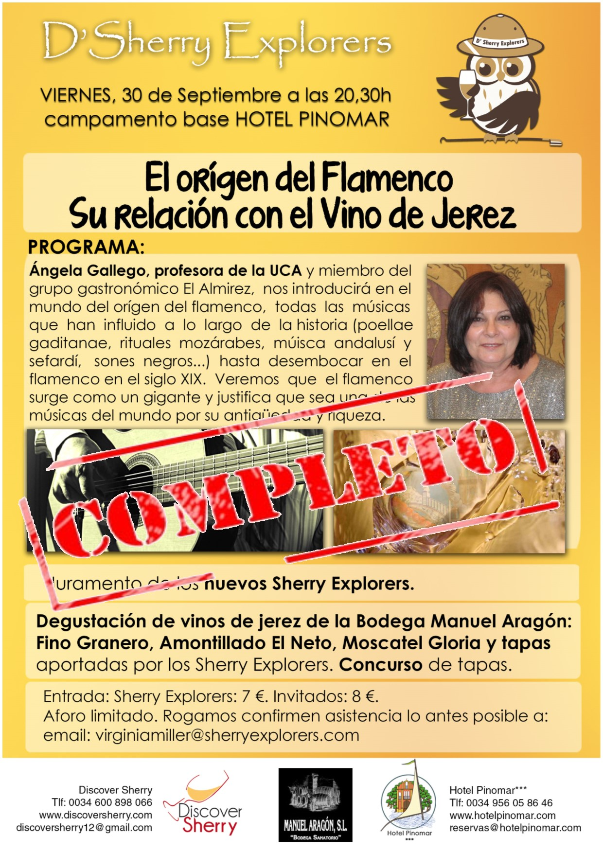 Próxima reunión de los Sherry Explorers: Completa / Next Sherry Explorers´ meeting: Full House