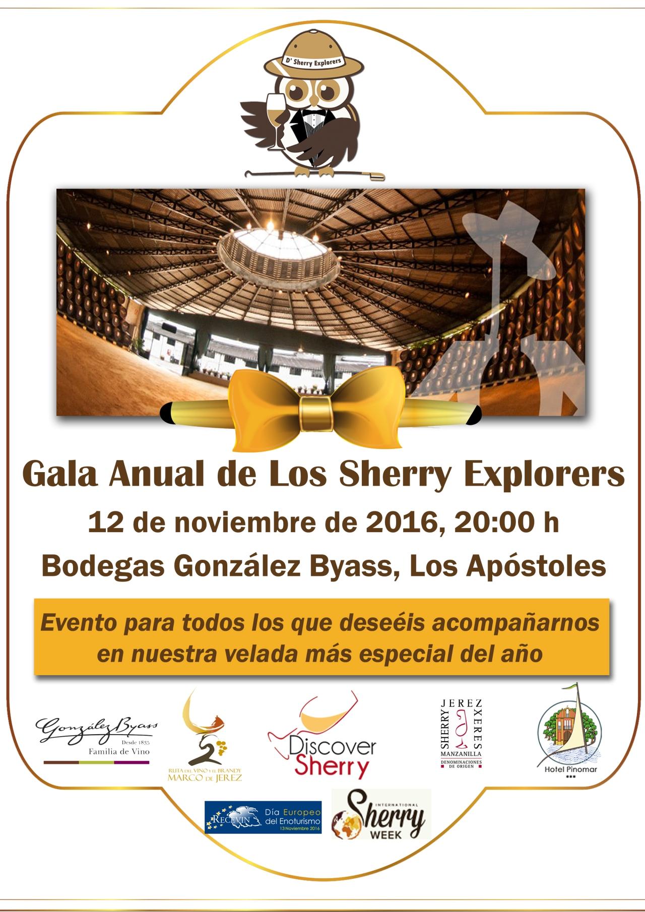 Toda la información sobre la Gala Anual de los Sherry Explorers del 12 de noviembre 2016(Español)