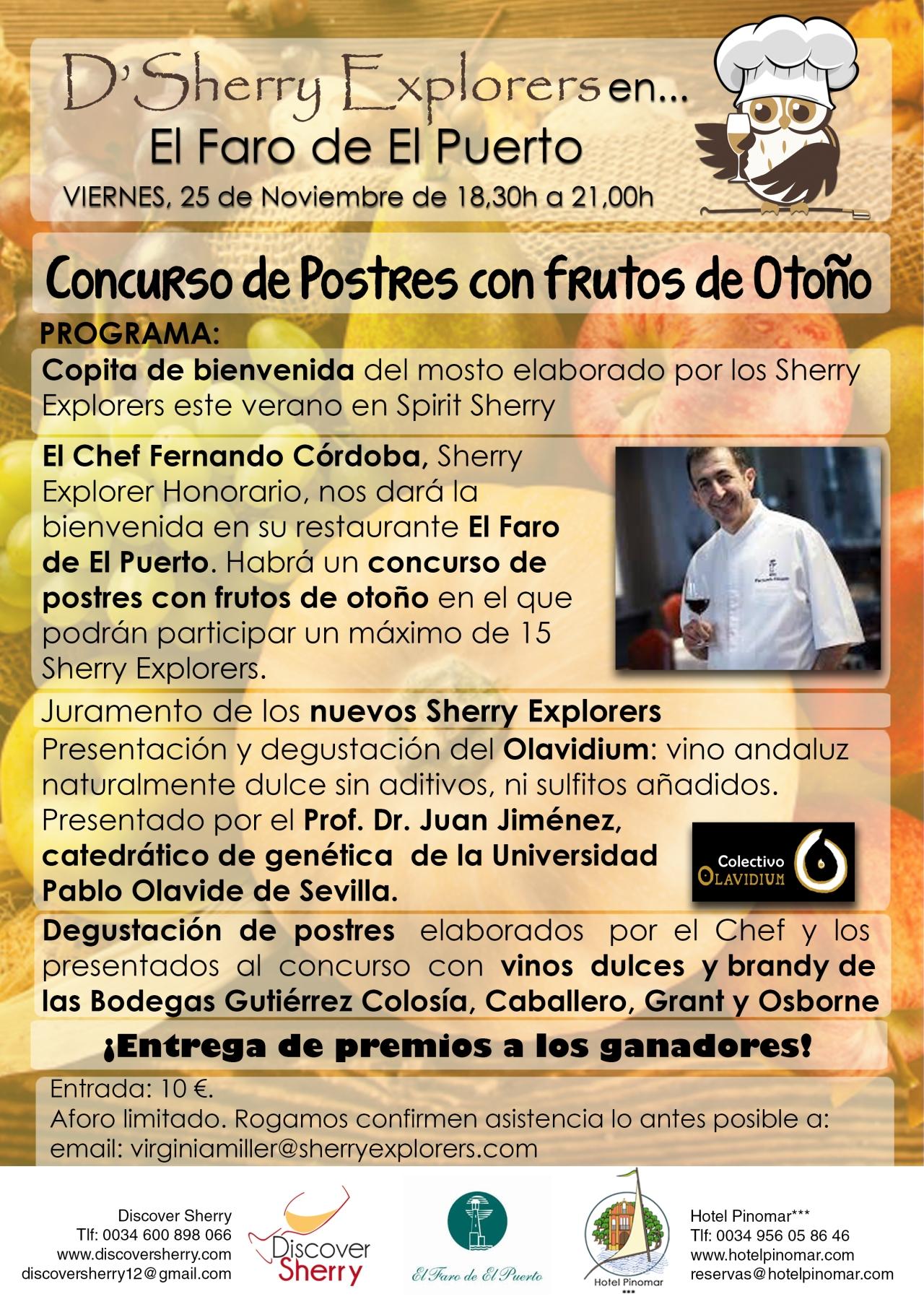 Próxima reunión de los Sherry Explorers en El Faro de El Puerto / Next Sherry Explorers´meeting at El Faro de El PuertoRestaurant