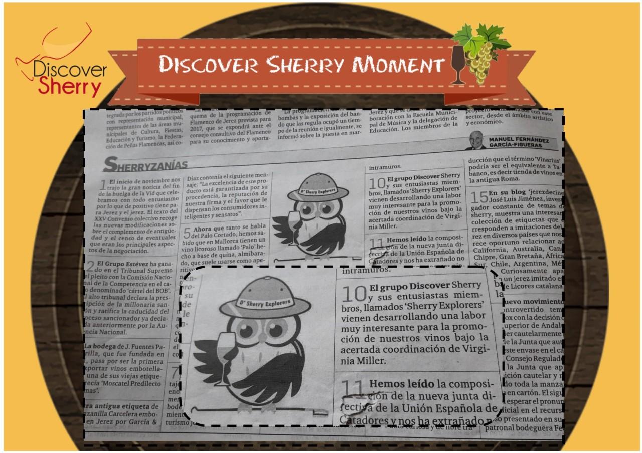 Discover Sherry Moment:  Sherryzanías, Diario deJerez