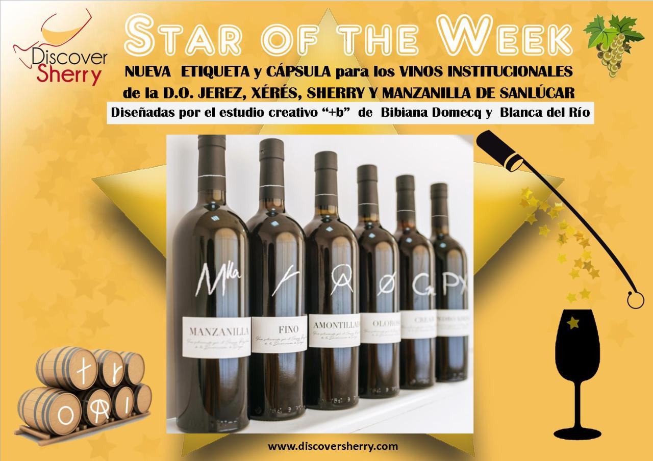 STAR OF THE WEEK: Nueva etiqueta para la DO Jerez-Xérés-Sherry / New label for the Sherry Regulatory Council