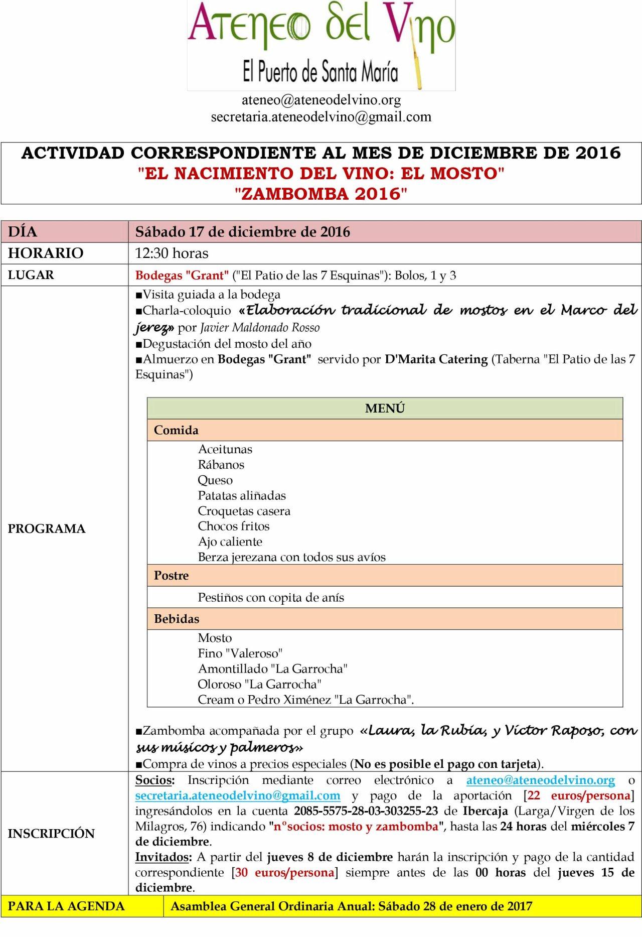Discover Sherry Recommends: Ponencia, Comida y Zambomba con el Ateneo de ElPuerto.