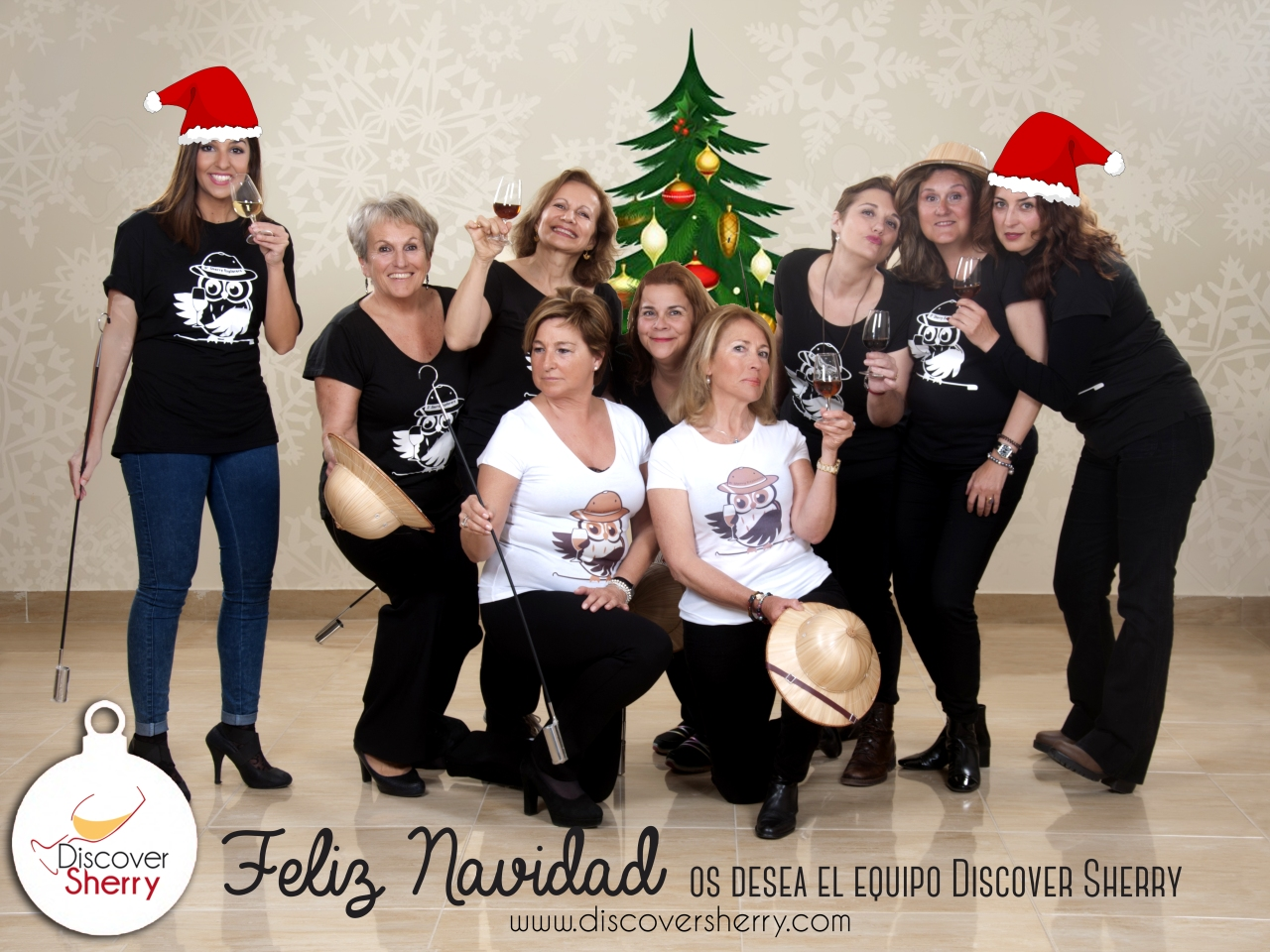 ¡El equipo Discover Sherry os deseamos Feliz Navidad! / Merry Sherry Christmas from the Discover Sherry Team!