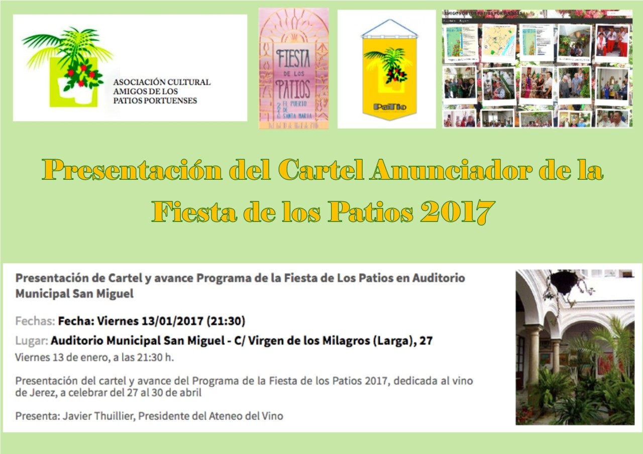Presentación del cartel de la Fiesta de los Patios 2017(Spanish)