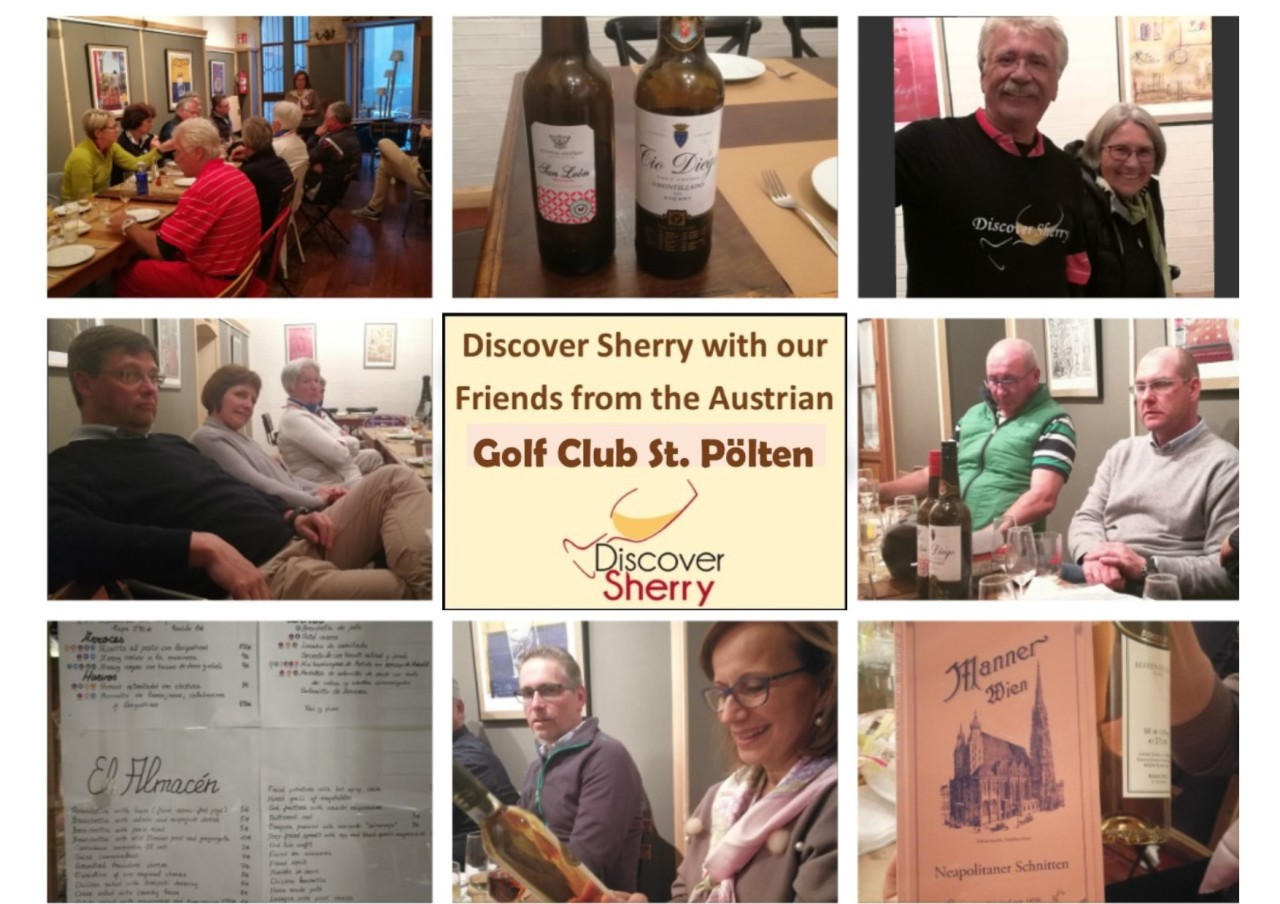 Discover Sherry recibe a un grupo de socios del Golf Club St Pölten de Austria / Discover Sherry greets a a group of members from the Austrian Golf Club St. Pölten