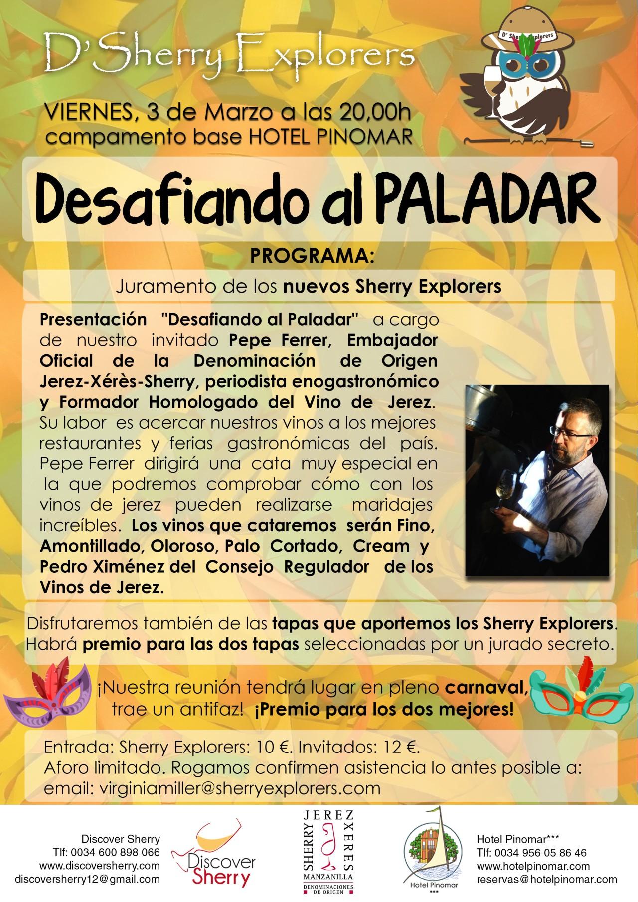 """""""Desafiando al Paladar"""" con Pepe Ferrer el 3 de marzo de 2107.(Español)"""