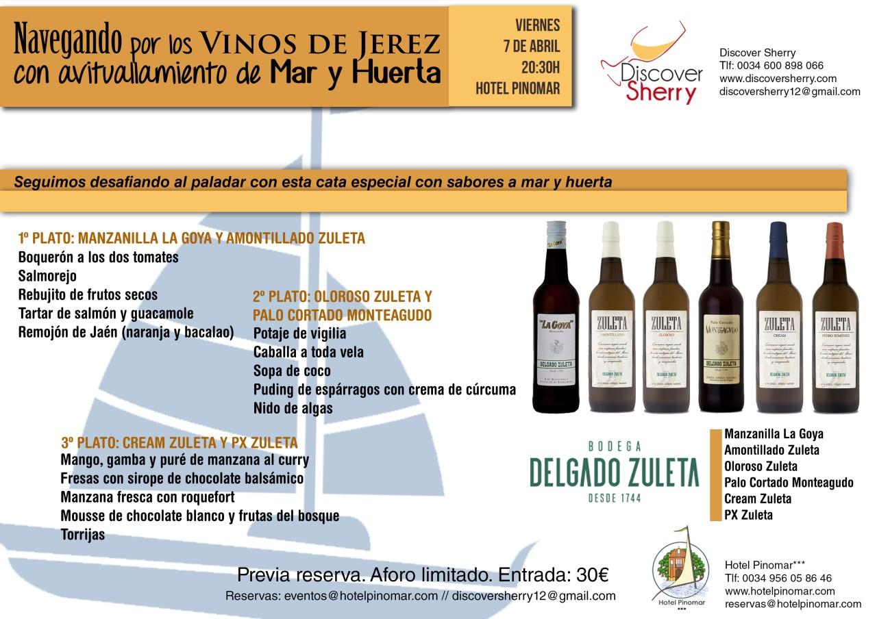 Navegando por los Vinos de Jerez con avituallamiento de Mar y Huerta(Spanish)