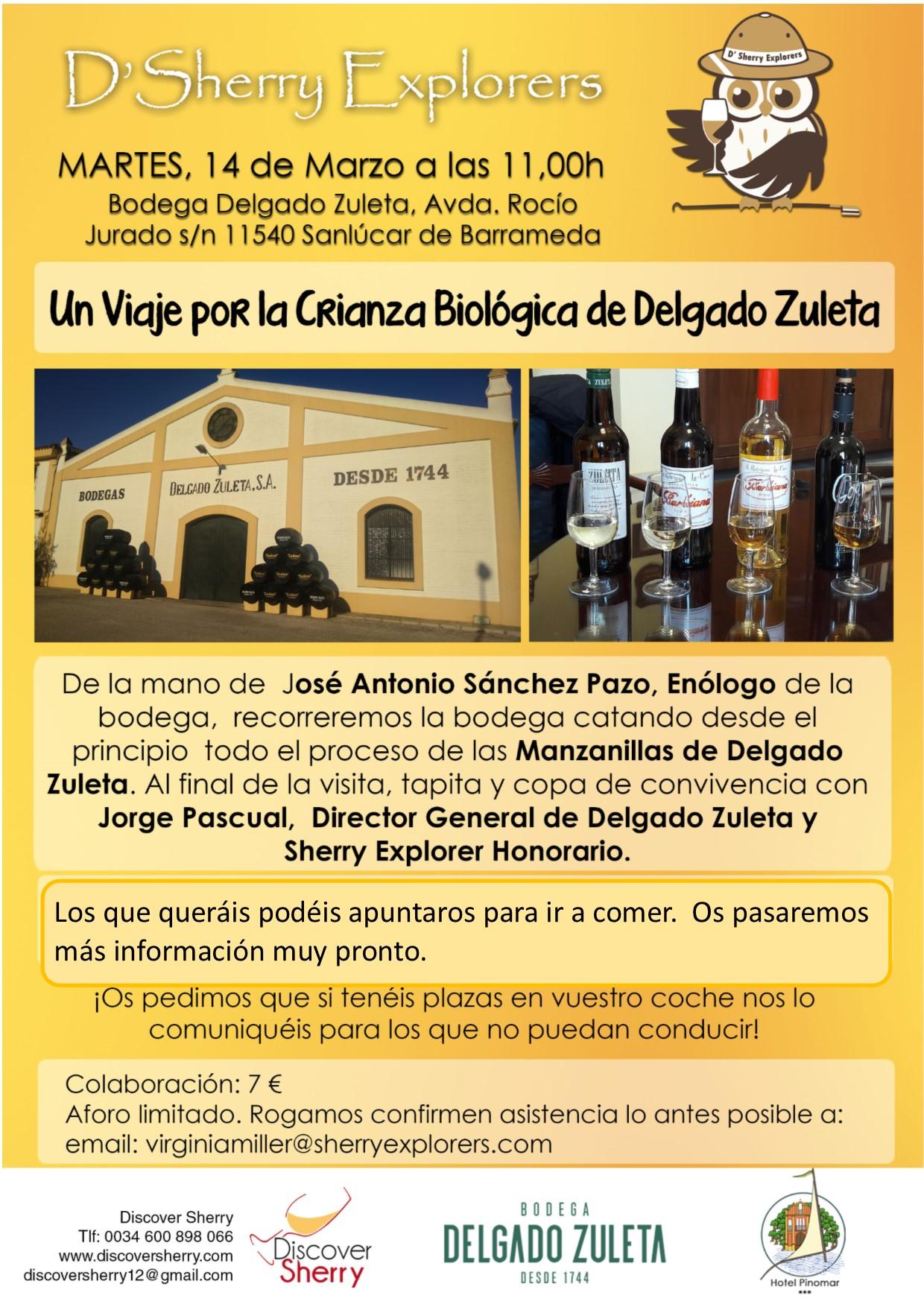 Apúntate al Viaje por la Crianza Biológica de Delgado Zuleta(Spanish)