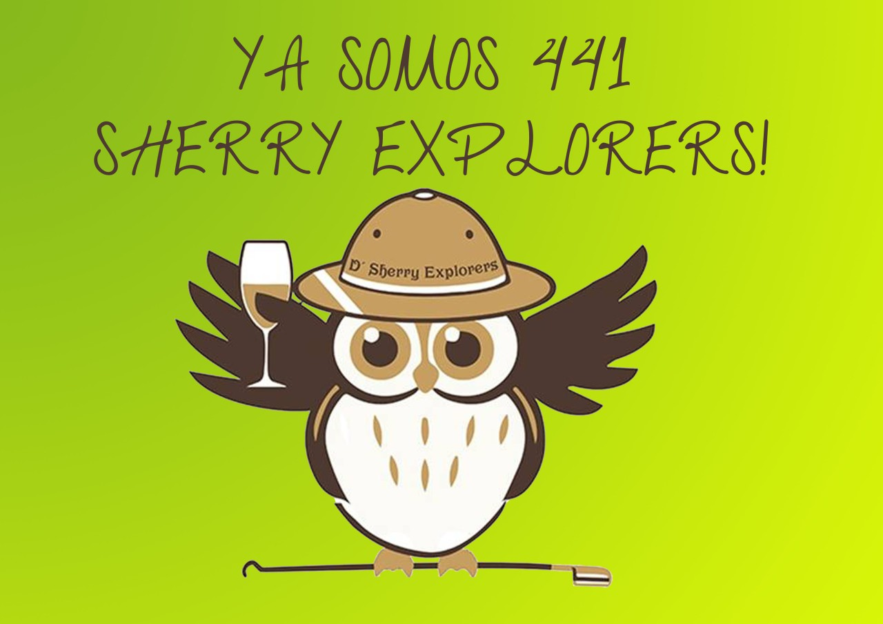 ¡Ya somos 441 Sherry Explorers! We are now 441 Sherry Explorersstrong!
