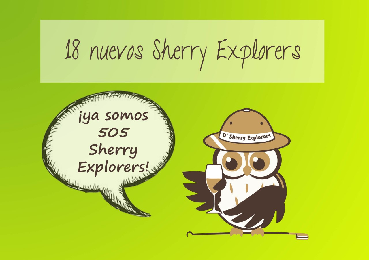 ¡Ya somos más de medio millar de Sherry Explorers! We are now over 500 Sherry Explorers strong!