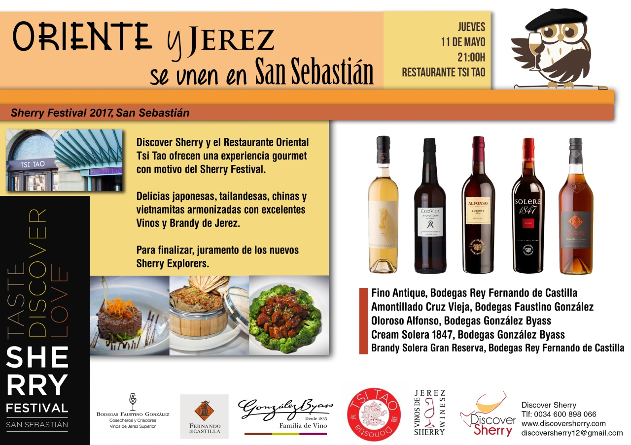 San Sebastián Sherry Festival: Cata-Maridaje en el Restaurante Tsi Tao/ San Sebastián Sherry Festival:  Tasting-Pairing at the Tsi TaoRestaurant