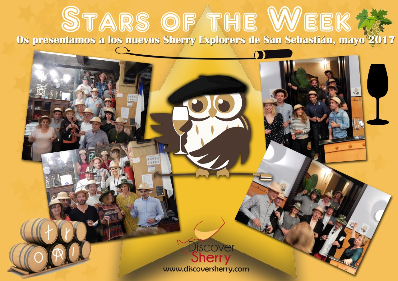 STARS of the WEEK:  Nuevos Sherry Explorers en San Sebastián