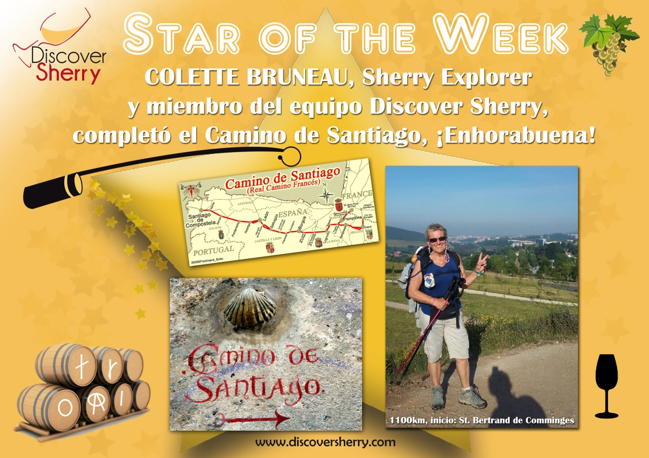 STAR of the week: Nuestra compañera y Sherry Explorer, Colette Bruneau, completa el Camino de Santiago