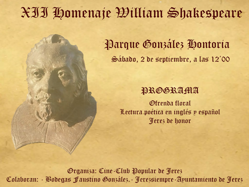 XII Homenaje a William Shakespeare en Jerez (Spanish)