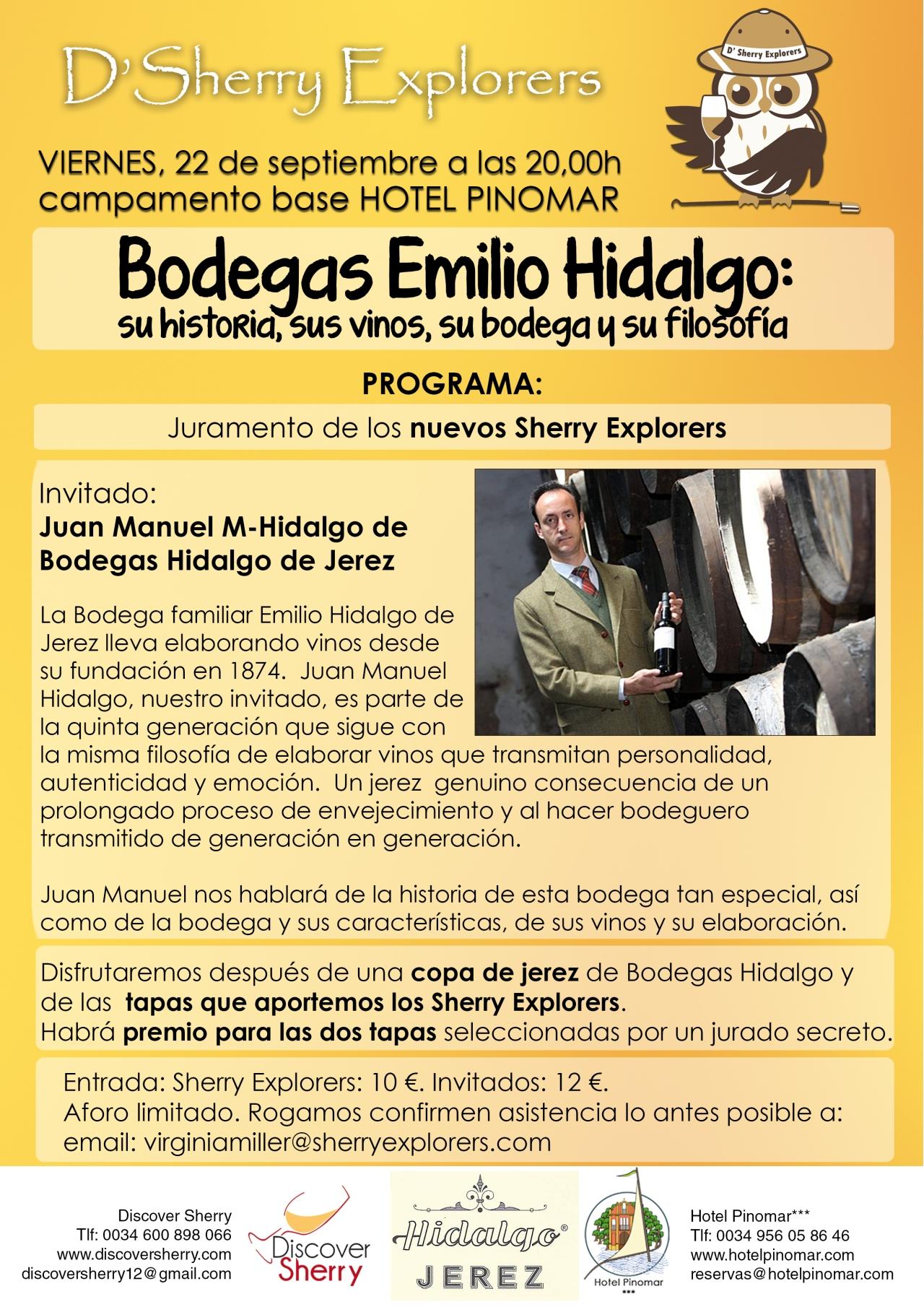 Comienza el curso de los Sherry Explorers con Juan Manuel Hidalgo, Bodegas Hidalgo, Jerez/Opening session for the Sherry Explorers hosted by Juan Manuel Hidalgo, Bodegas Hidalgo, Jerez de laFrontera