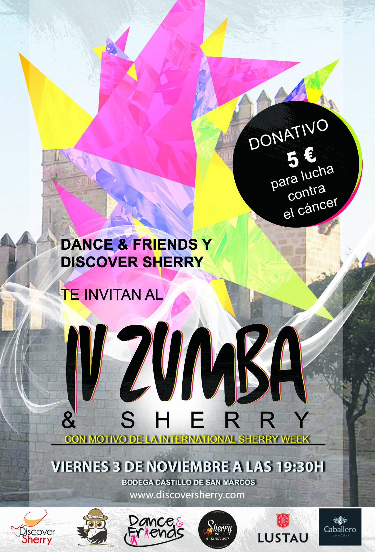 La International Sherry Week comenzará con ZUMBA and SHERRY/ International Sherry Week will start out with ZUMBA andSHERRY