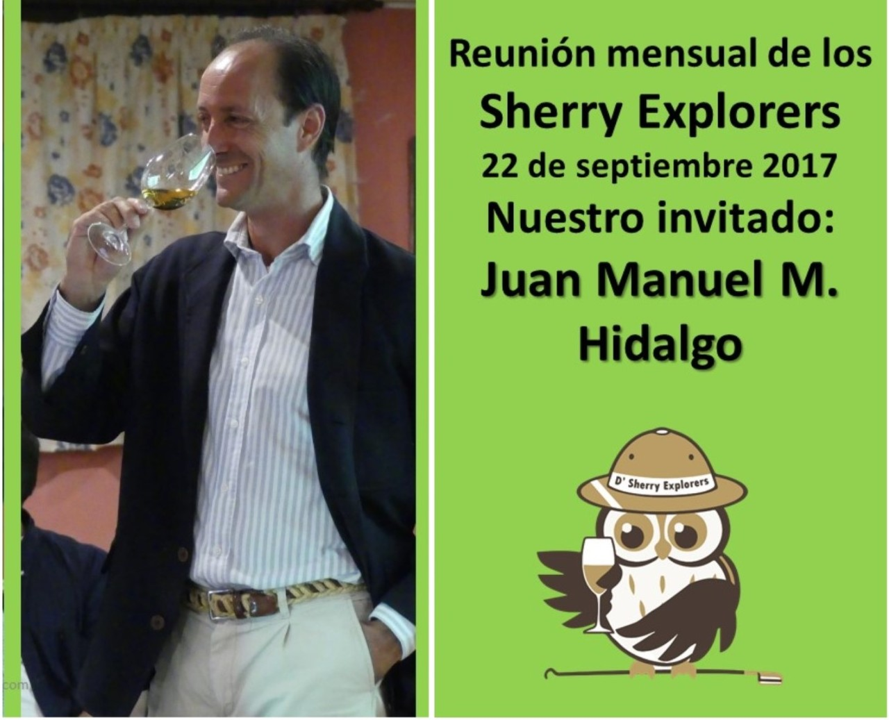 Bodegas Emilio Hidalgo en la reunión de los Sherry Explorers/The Emilio Hidalgo winery at the Sherry Explorers´meeting