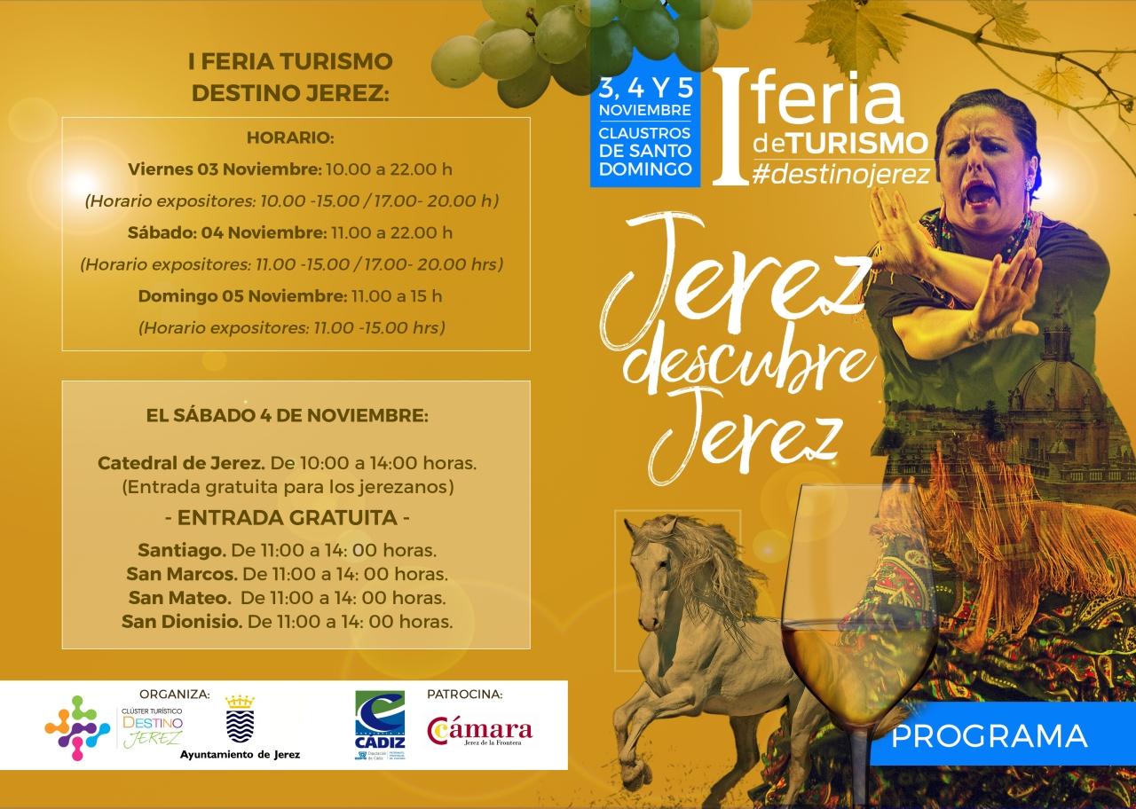 I Feria de Turismo Destino Jerez, 3-5 noviembre(Spanish)