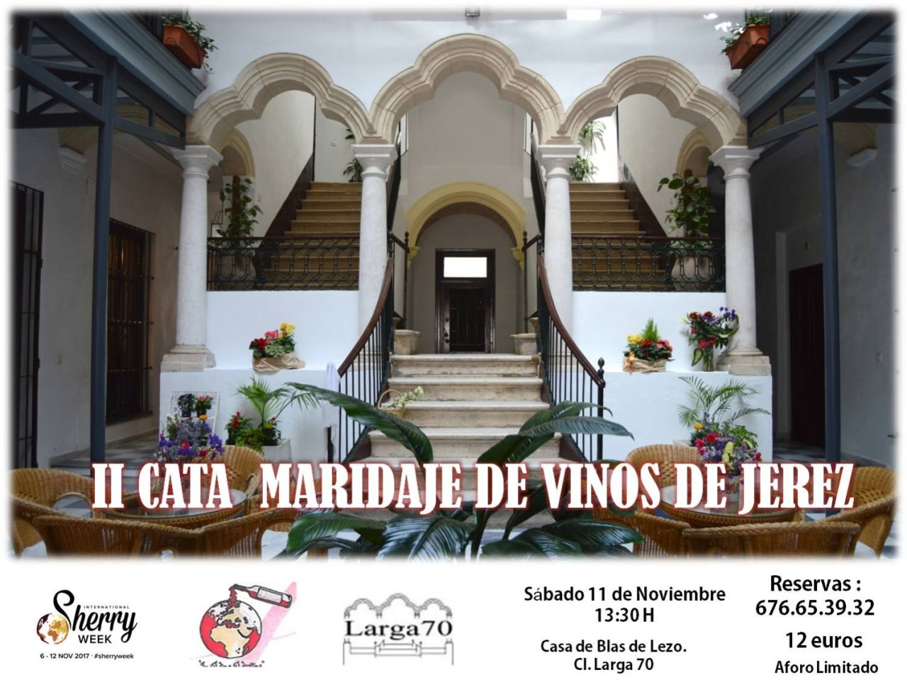 Cata vinos de jerez en Larga 70, Puerto de Santa María, International Sherry Week